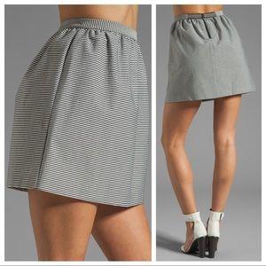 Alice + Olivia Francys Striped Mini Skirt Sz 2